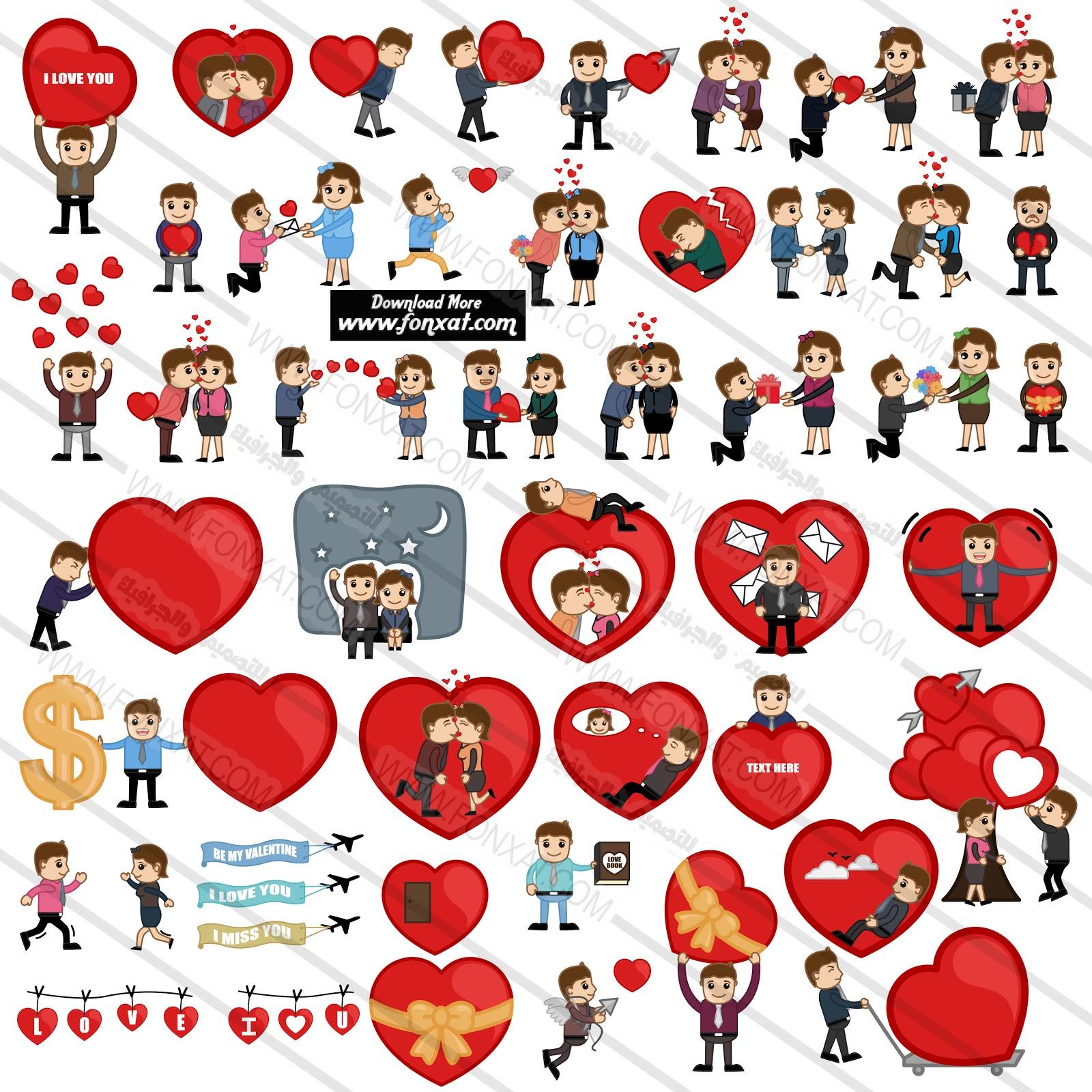 vector cartoon : Valentine's Day