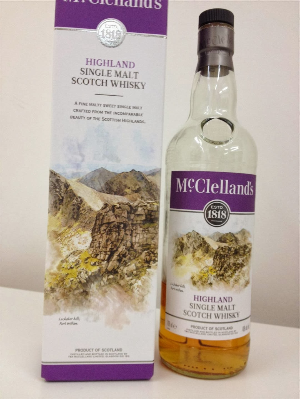 mcclellands single malt highland scotch