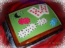 Pókerasztal torta