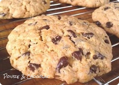 Cookies aux deux chocolats, noisetes et flocons d'avoine