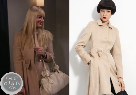 2 Broke Girls: Season 3 Episode 3 Caroline's Bow Pocket Coat |