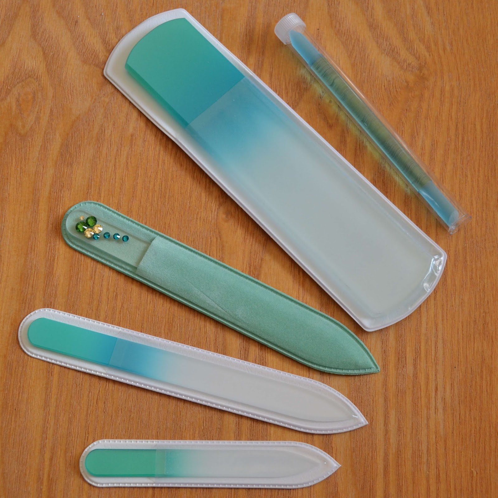 Malva Belle Premium Glass Nail File, $10, Amazon. Malva Belle's premium nail file features double-sided etching on a nonporous, hardened glass with a grit that works on both natural and acrylic nails. At about an eighth-of-an-inch thick and less than six inches tall, this file can easily fit into your tiniest clutch.