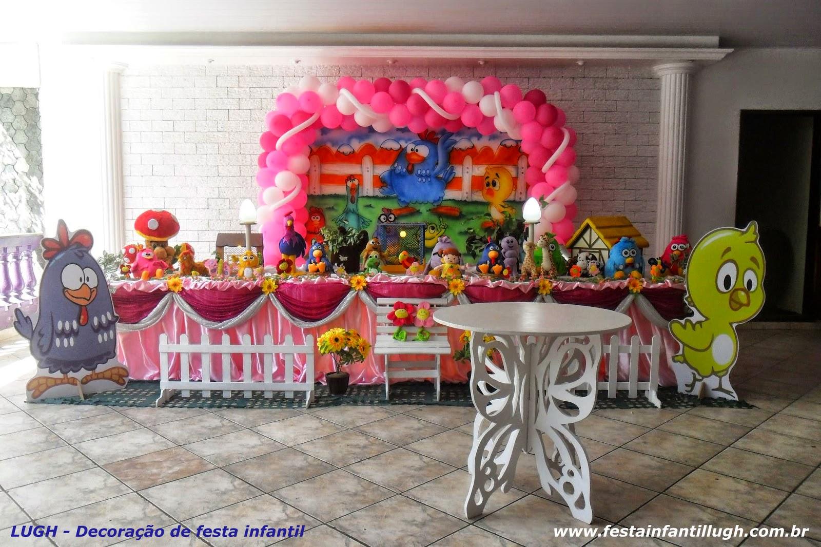 Tema da Galinha Pintadinha - Mesa decorada para aniversário de festa infantil