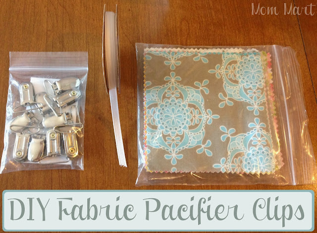 DIY Fabric Pacifier Clips #Homemade #DIY