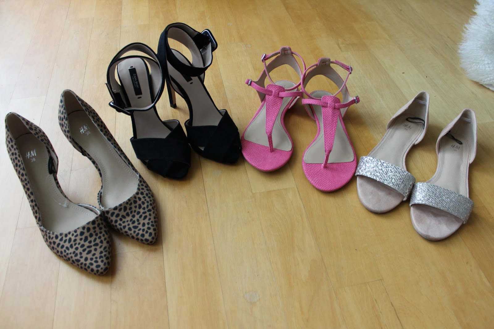 New in Shopping H&M Zara shoes flats heels animal print
