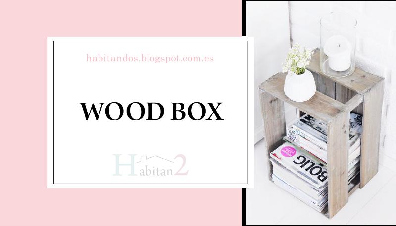 Un montón de ideas decorativas para reutilizar cajas de madera by Habitan2