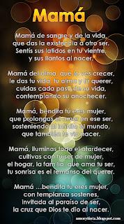 imagen de poema dia de la madre mamá