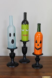 Garrafas decoradas para halloween