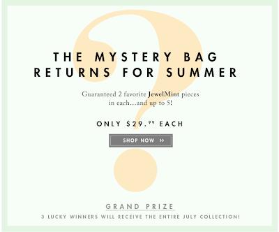 jewel mint summer mystery bag