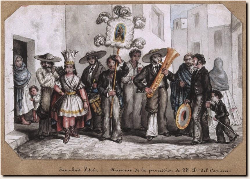 Procesión de San Carmen, San Luis Potosí