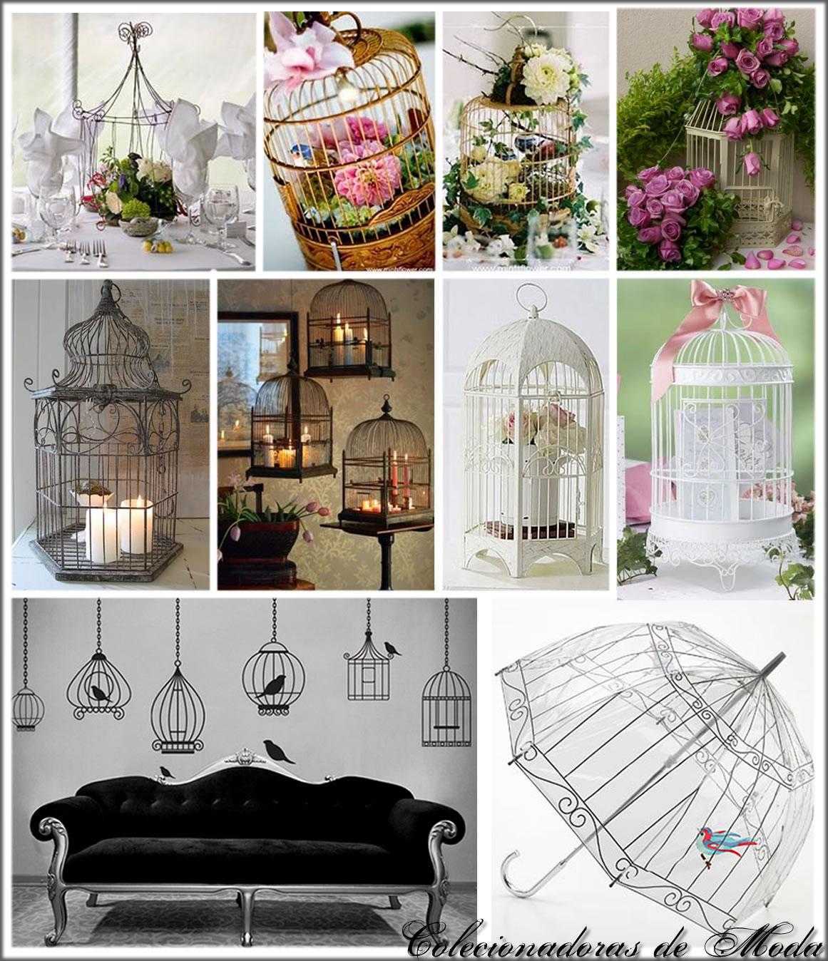 ideias criativas para decoracao de interiores : ideias criativas para decoracao de interiores:Rustika Design: Gaiolas na decoração!