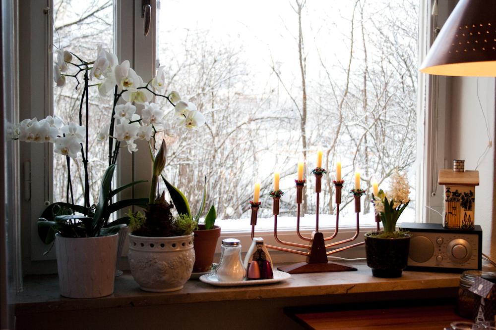 julpynt till fönster