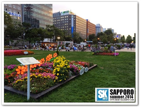Sapporo Japan - One of the many sections of Odori Park