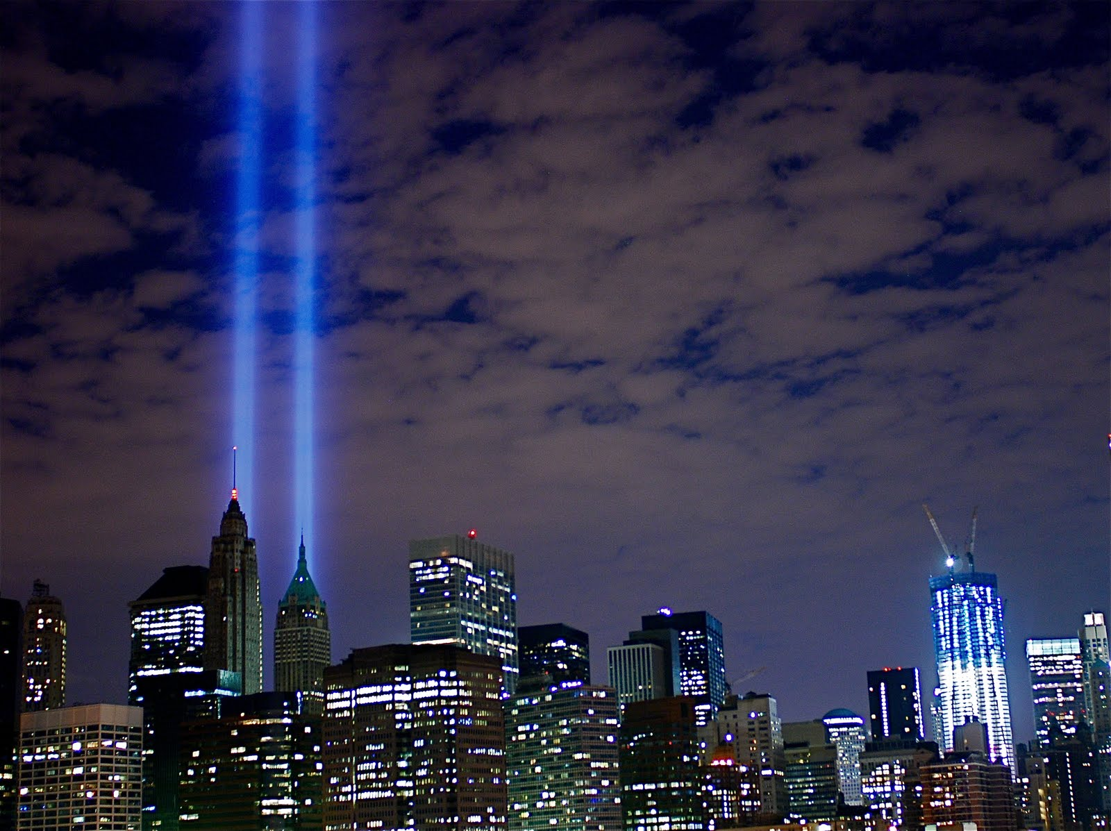 9/11 lights new york