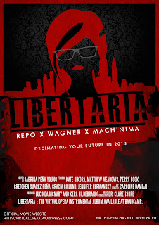 LIbertaria Virtual Opera movie Poster, machinima