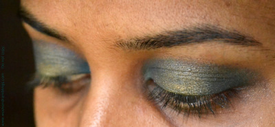 Indian Festivals Makeup EOTD Tutorials Golden Smokey Blue Teal Eyeshadow Drugstore