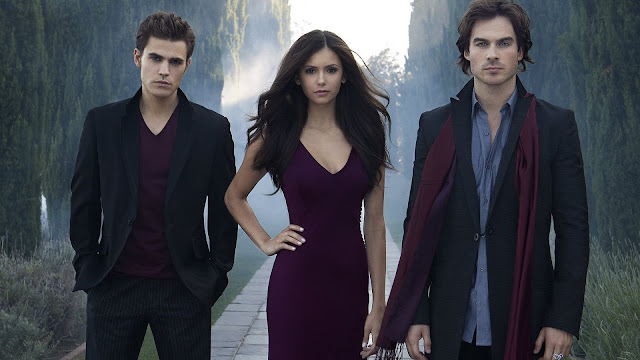 The Vampire Diaries Damon Elena y Stefan