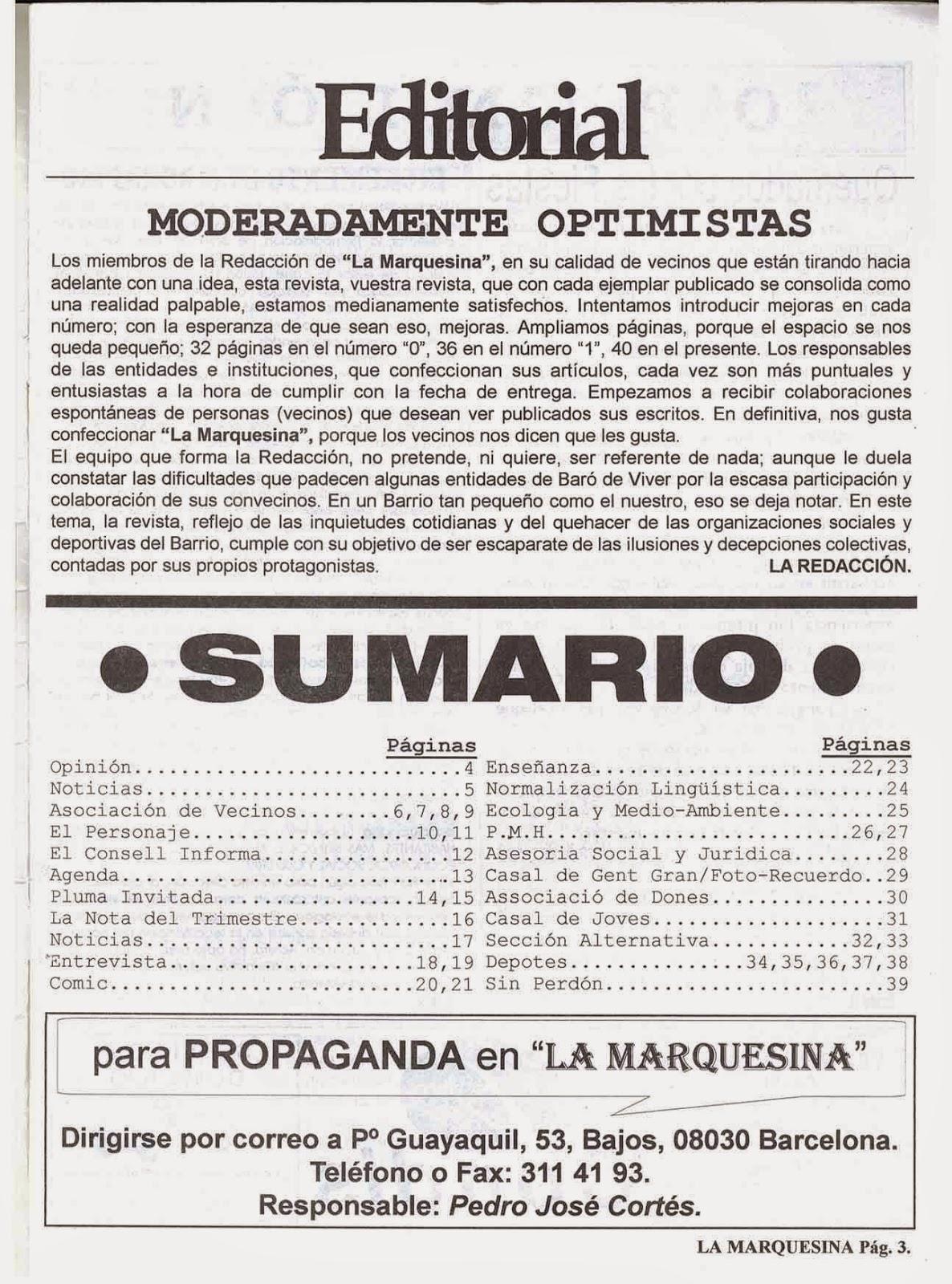 REVISTA DEL BARRIO BARO DE VIVER