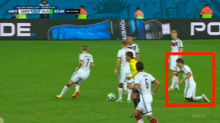 حقيقة سقوط مولر أثناء تنفيذ ركلة حرة أمام المرمى الجزائري