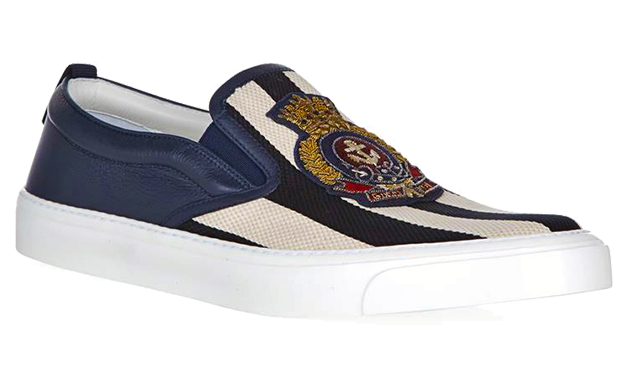 Gucci-Striped-Slip-On-Sneakers