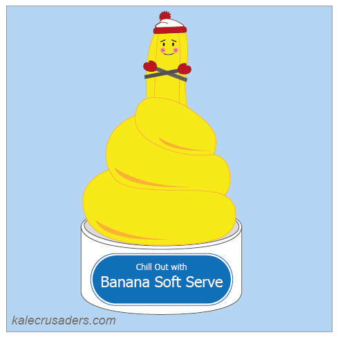 banana soft serve ice cream, vegan banana ice cream