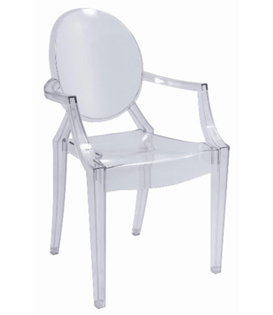 Philippe starck louis ghost dining chair available from life interiors