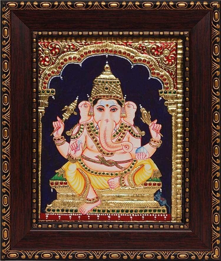 Lord Ganesha Glass Paintings or Ganesha Glass Paintings