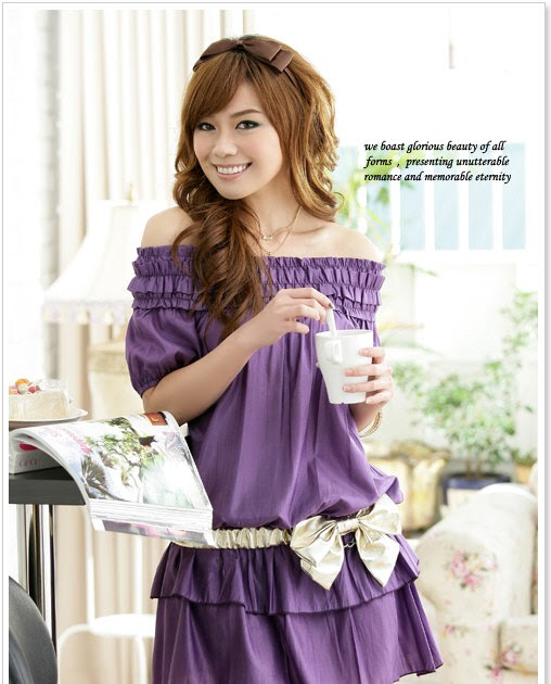 Japanese Purple Dress For A Party