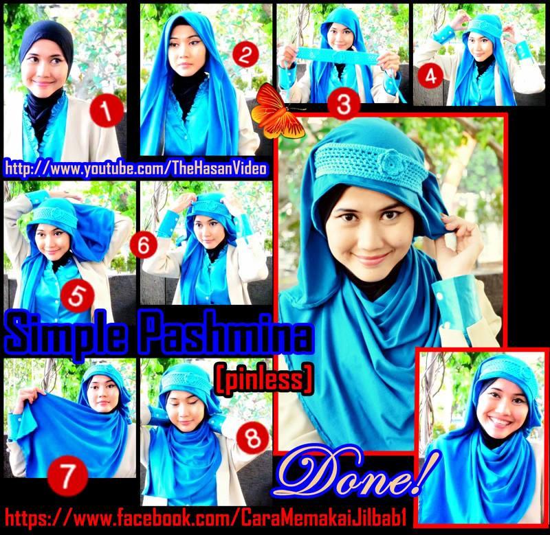 Download image Gambar Tutorial Jilbab Pashmina Simple Ala Didowardah ...