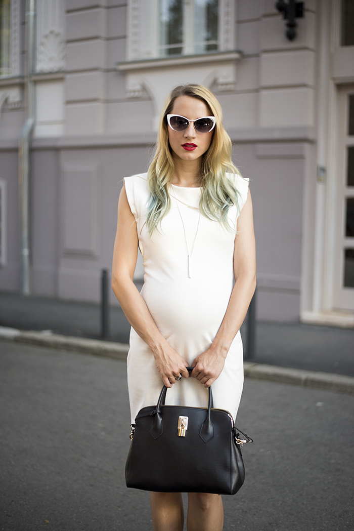Skinny Buddha white dress sunglasses