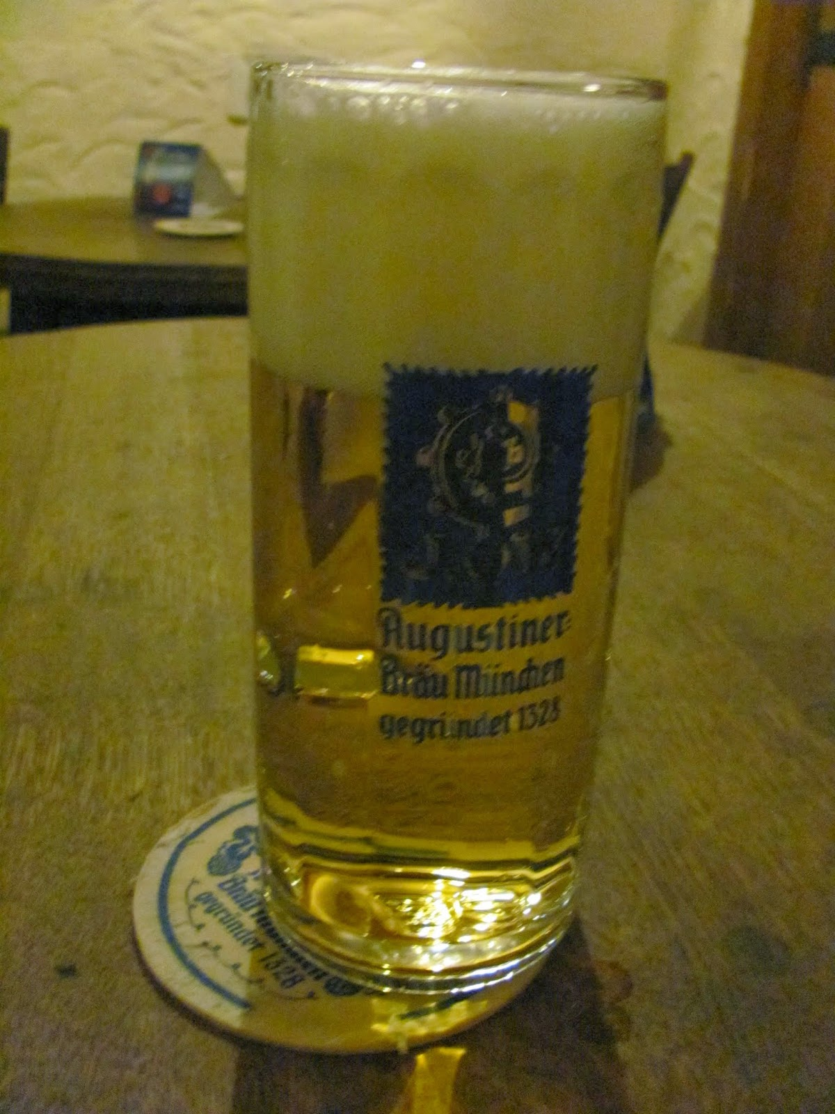 Augustiner Helles at Augustiner Beer Hall Munich, Germany