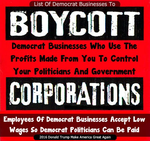 Boycott Democrat Business List
