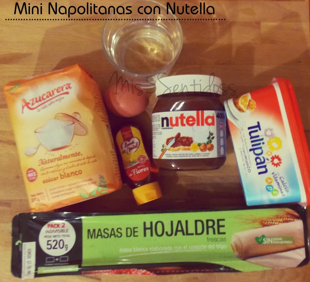 Mini Napolitanas esponjosas y rápidas con Nutella