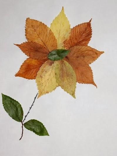 Фигурки из сухих листьев