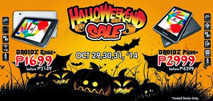 Torque Mobile Halloweekend Sale from October 29-31, 2014
