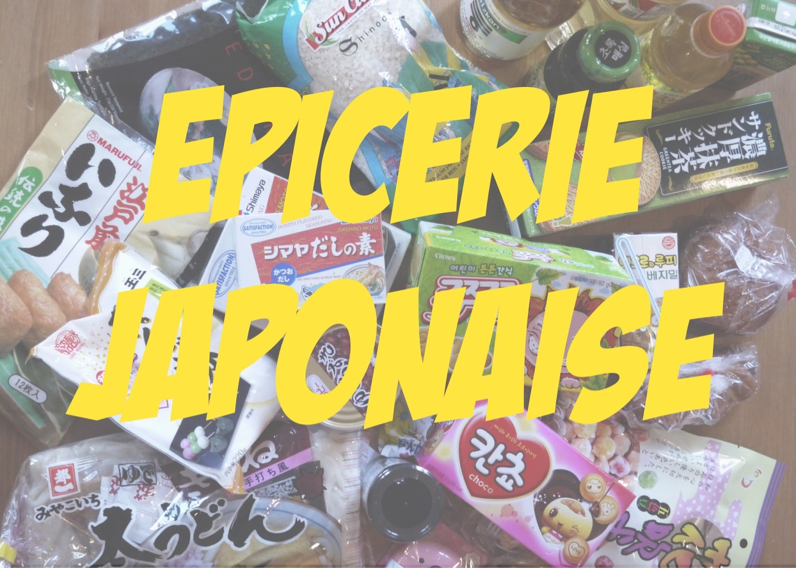 Mes epiceries japonaises pr f r es - Epicerie japonais paris ...
