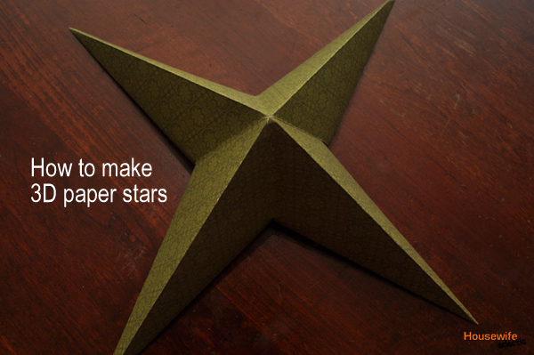 How to make 3d origami star ornaments tree toppers for Make a 3d star
