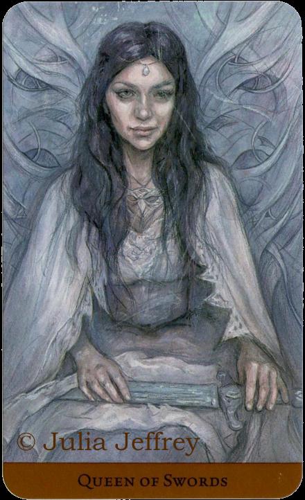 Tarot of the Hidden Realm, Queen of Swords, Julia Jeffrey