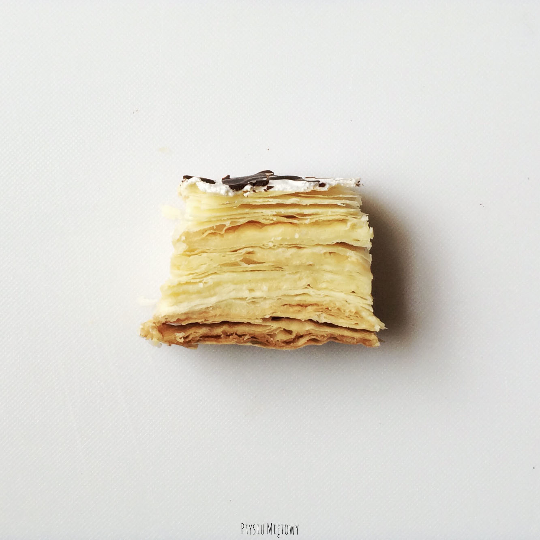 ciasto francuskie, ptysiu mietowy