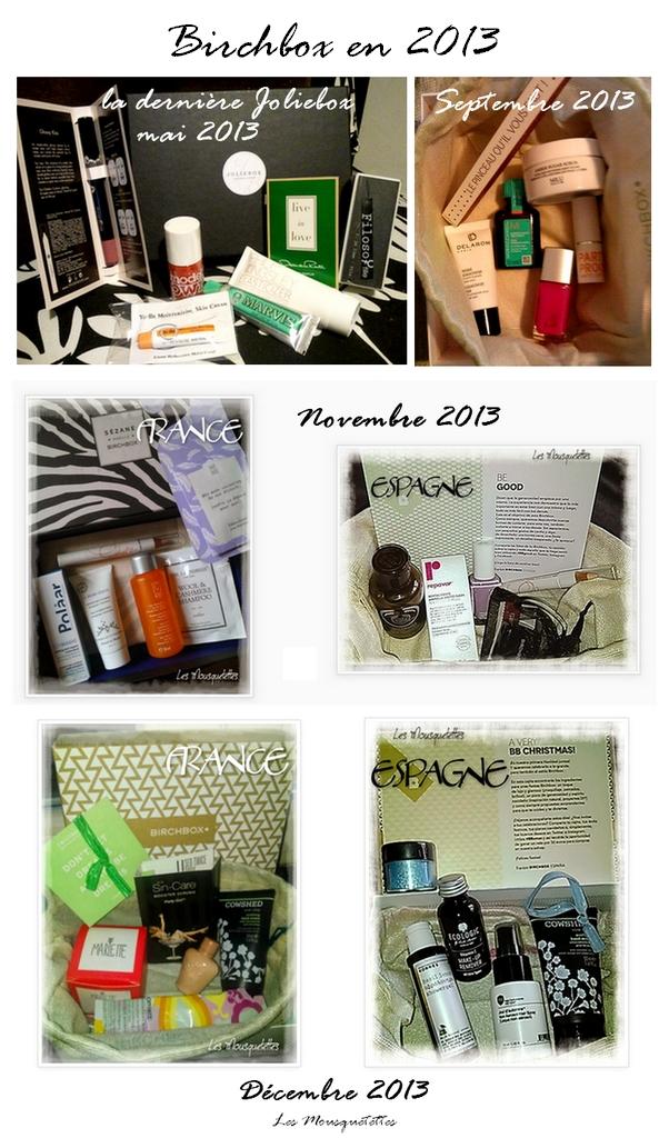 Birchbox en 2013 - Les Mousquetettes©
