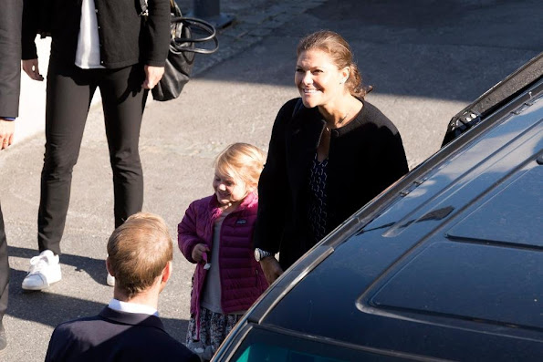 Pregnant Crown Princess Victoria of Sweden and Princess Estelle of Sweden have arrived in Norway