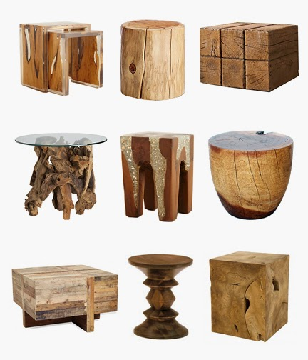 Crazy About Rustic Wood Accent Tables