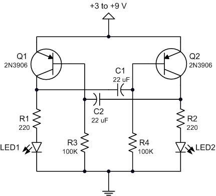 tech2play: Dual LED Flasher