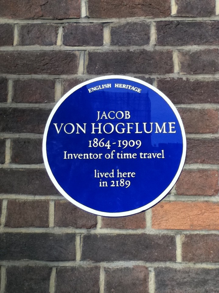 English Heritage: Jacon Von Hogflume, inventor of time traveler