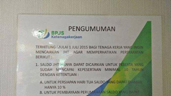 Kontroversi JHT BPJS Ketenagakerjaan