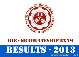 IIIE Graduateship Exam 2013 Results
