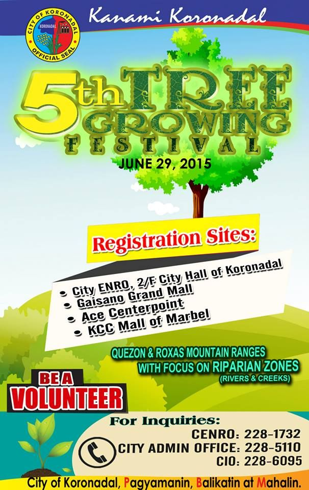 koronadal tree growing festival 2015
