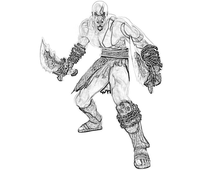 God of War Ascension Kratos Ready Coloring Pages title=