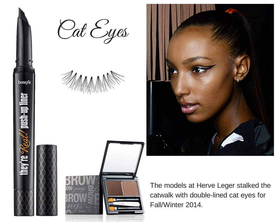 Double-lined winged eyeliner. Eye Trends Fall/Winter 2014
