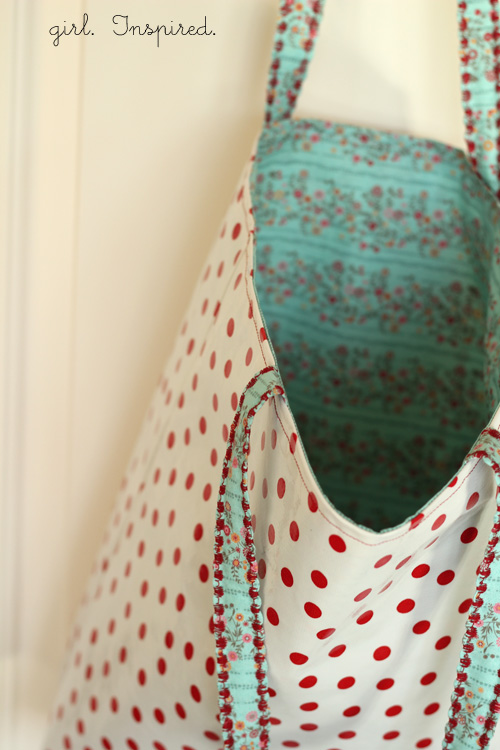 The Spring Market Tote - Tutorial - girl. Inspired.